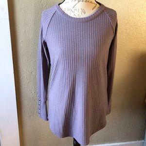 Chaser thermal waffle knit long sleeve shirt